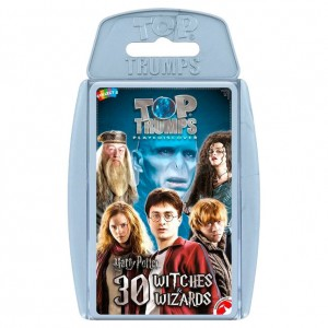 Harry Potter 30 Witches and Wizards Top Trumps spanish game
