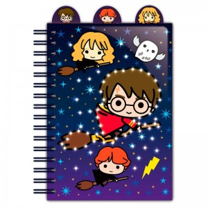 Harry Potter Chibi Characters light up A5 notebook