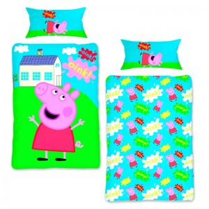 Peppa Pig duvet cover bed