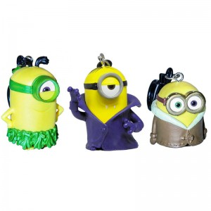 Minions key ring 6cm assorted