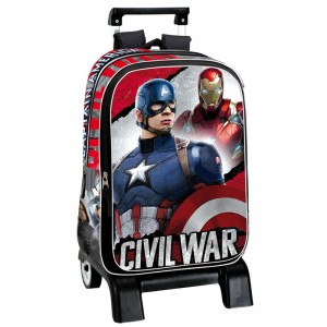 Backpack with trolley Captain America Civil War Justice 42cm