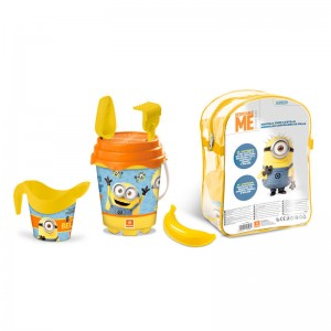 Minions set backpack beach