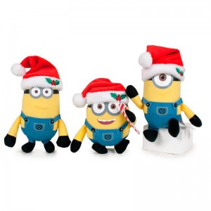 Assorted Minions keyring plush 10cm