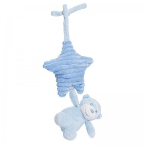 Plush Toy Bear musical Aurora Baby Blue hanging 31cm