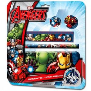 Set papeleria Vengadores Avengers Marvel 5pz