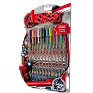 Blister 12 boligrafos gel Vengadores Avengers Marvel