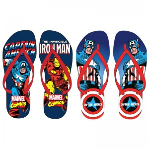 Marvel Avengers assorted adult flip flops