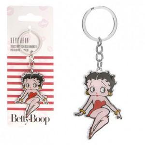 Betty Boop metal keychain