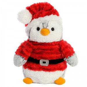 Penguin santa solft plush toy 23cm