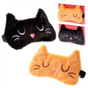 Feline Fine Cat assorted plush eye mask
