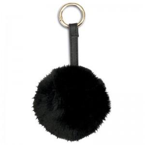 Black Pompom plush hey chain