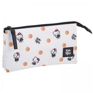 Hello Kitty Polka Dots triple pencil case