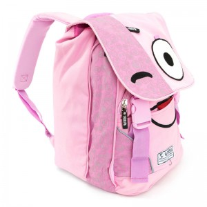 Spirit Emoticons Pink backpack with flap