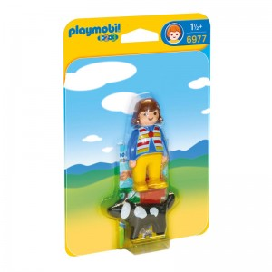 Playmobil 1.2.3 Woman with dog