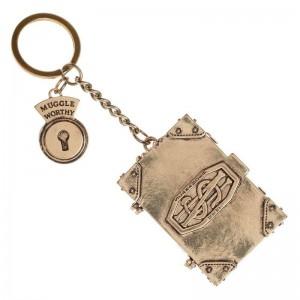 Fantastic Beast metallic book keychain