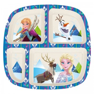 Disney Frozen bamboo divided plate