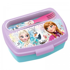 Disney Frozen lunch box with cutlery