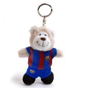 Nici FC Barcelona Bear plush key chain 10cm