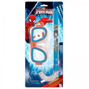 Marvel Spiderman mask and snorkel set