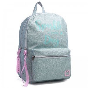 Marshmallow Sparkle in Green backpack 45cm