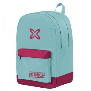 Munich Blue Colors double backpack 45cm adaptable