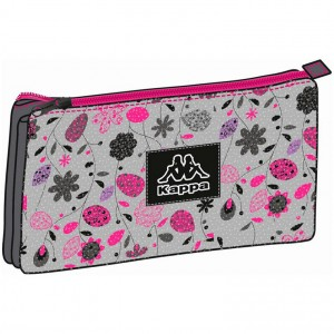 Kappa Glamour Flowers triple pencil case