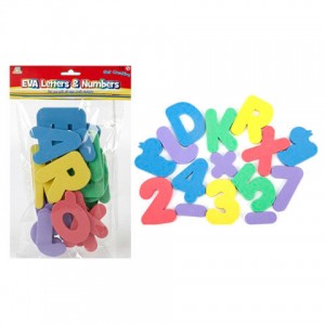 Assorted letters and numbers EVA
