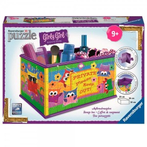 3D puzzle Girly Girl Box Owls 216pz