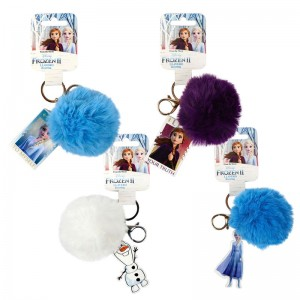 Disney Frozen 2 assorted pompom keychain