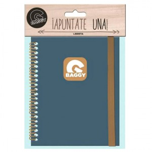 Baggy blue notebook