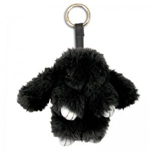 Black Rabbit plush key chain 15cm