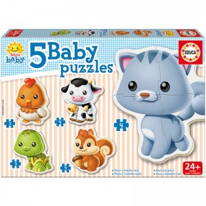 Baby puzzle domestic animals
