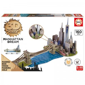 Manhattan Dream wood 3D puzzle 160pz
