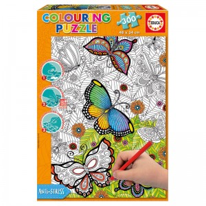 All Good Things are Wild and Free Colouring puzzle 300pcs