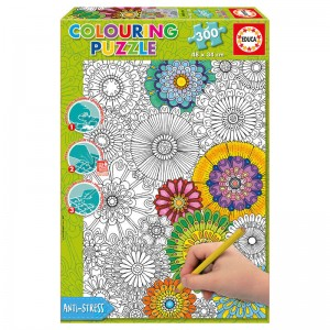 Beautiful Blossoms Colouring puzzle 300pcs