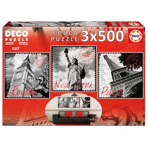 Big Cities Deco puzzle 3x500pz