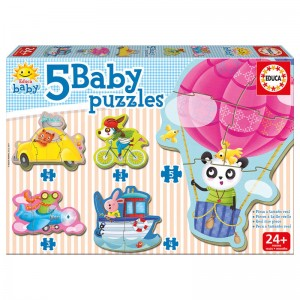 Animals al the Wheel Baby puzzle