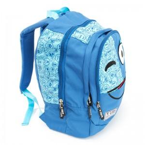 Spirit Emoticons Blue triple pocket backpack