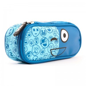 Spirit Emoticons Blue oval pencil case