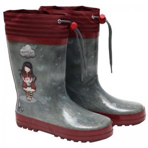 Gorjuss grey rubber rainboots