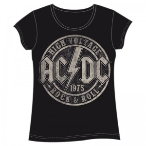 ACDC High Voltage woman adult t-shirt