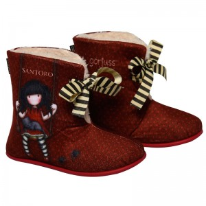 Gorjuss Ruby boot slippers