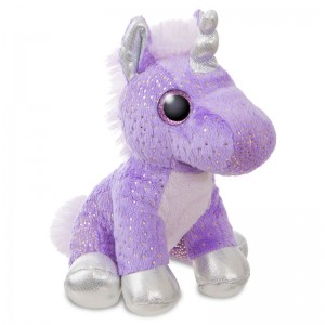 Unicorn mauve solft plush toy 18cm