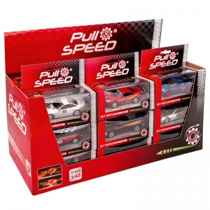 Assorted Pull Speed Police car blister with light