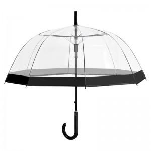 Automatic transparent bubble widproof umbrella 61cm