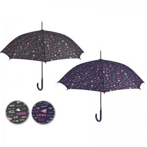 Love automatic assorted umbrella 61cm
