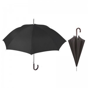 Auto open black 65cm umbrella