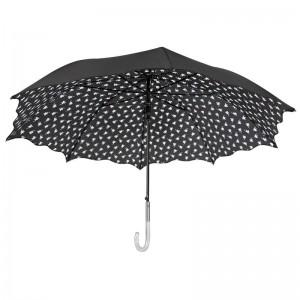 Flowers automatic windproof umbrella 61cm