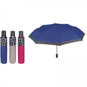Auto open folding windproff assorted Florwers 54cm umbrella