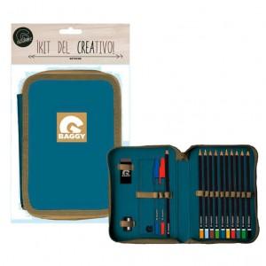 Baggy blue pencil case